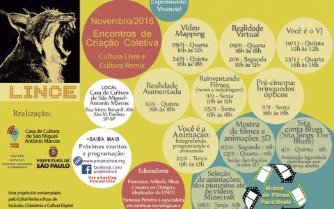 Projeto LINCE 2016/2017 inicia em novembro na Casa de Cultura São Miguel
