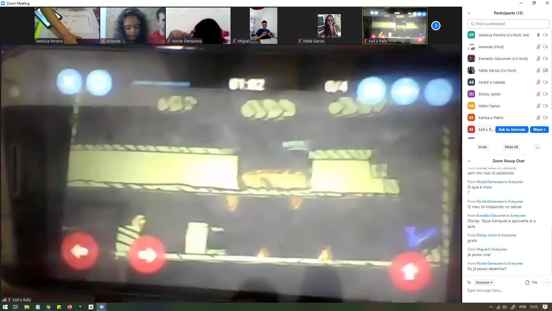 Projeto de jogo criado durante a oficina Game Jam Online - junho de 2020